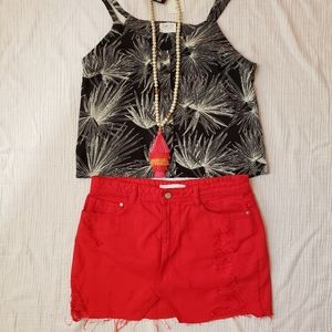 Zara Sparrow & Sky Summer skirt tank outfit bundle